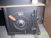 Diebold Lug door safe. This is an awesome money chest!