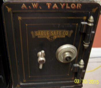 Used safe, Antique Safe, Yale Lock, Sable Safe Co.