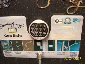 Gun Safe, Electronic lock. American Security, Amsec