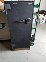 Sliding interior safe, C rated, Half inch plate steel