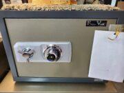 flame vault, records safe, mechanical dial