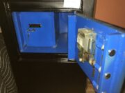 used safe, concrete filled, interior vault, cash drop, front load cash drop, dial safe, key operated vault