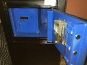 used safe, concrete filled, interior vault, cash drop, front load cash drop, dial safe, key operated vault