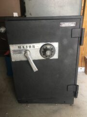 Major, mechanical lock, fire safe, records container, home safe