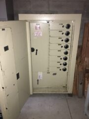 Bank safe, steel body, deposit boxes, interior vault, electronic lock, high security