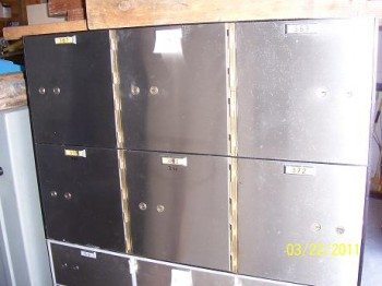 Used Safe Deposit Box Cluster