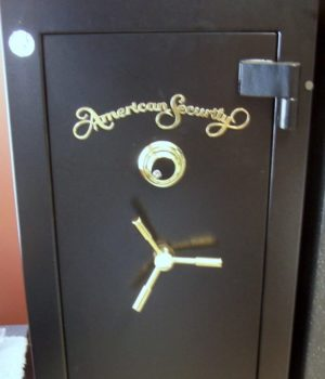 Amsec Gun Safe, Fire liner, dial lock, American Security