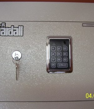Gardall. Wall safe, key lock, Electronic lock