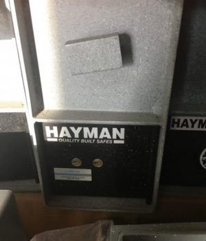 hayman, depository safe, rotary hopper, cash drop, key operated