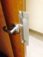 door hardware upgrade to improve security